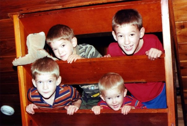 4 brothers all born with out pain medication via the Bradley Method (r) natural childbirth preparation classes.